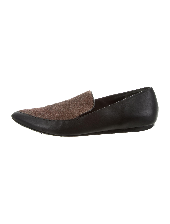 Vince Leather Ponyhair-Trimmed Flats sale brand new unisex fake sale online 35bdkINq