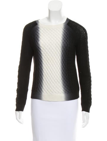 Vince Wool Ombré Sweater None