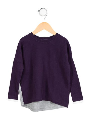 Vince Girls' Two-Tone Sweater None