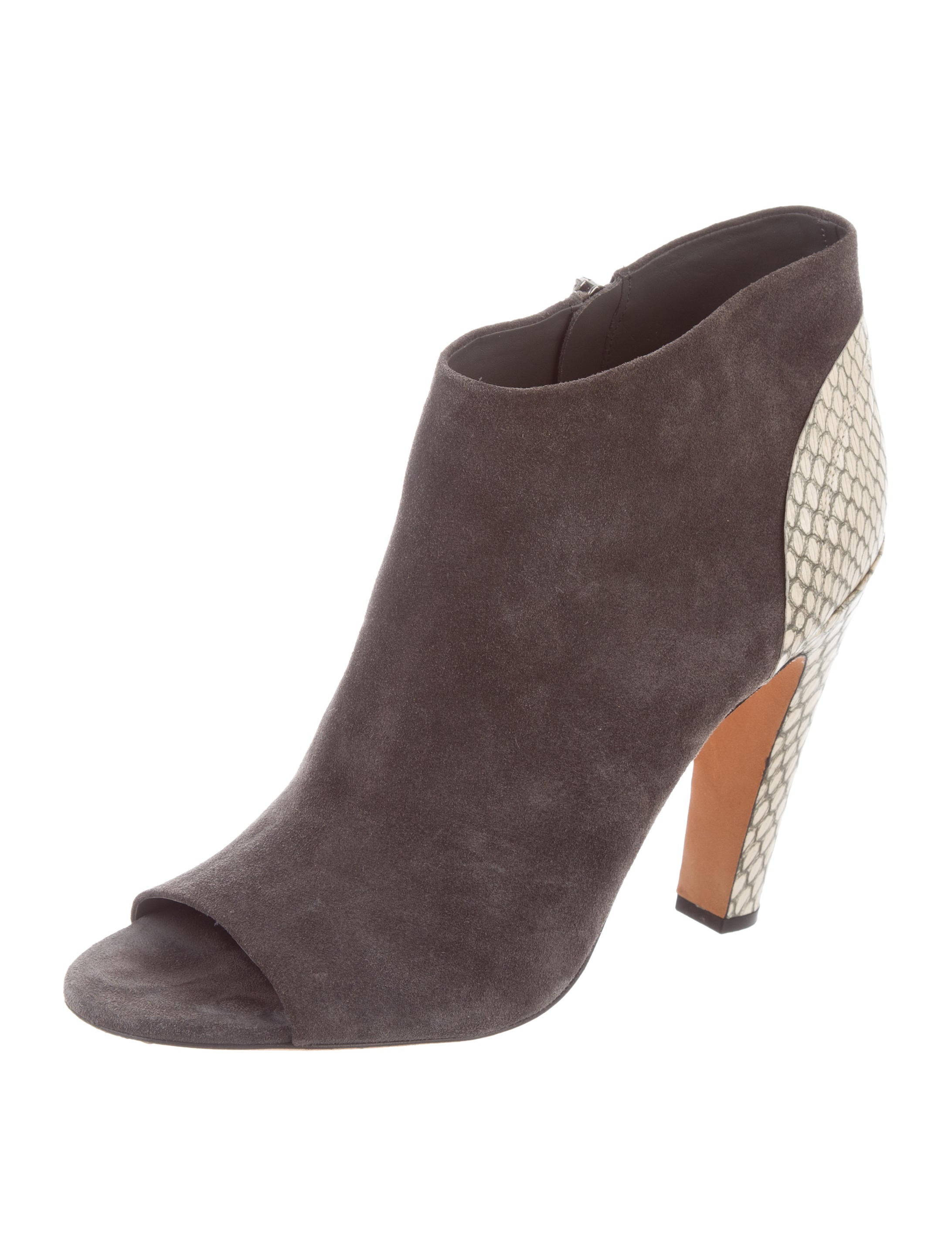 Vince Python-Accented Suede Booties cheap websites buy cheap newest discount marketable 3K8xC94cMw