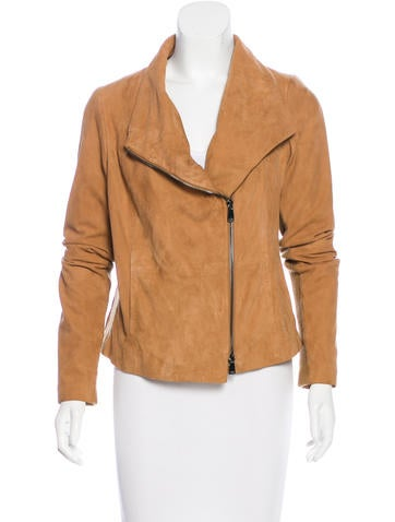 Vince Asymmetrical Suede Jacket None