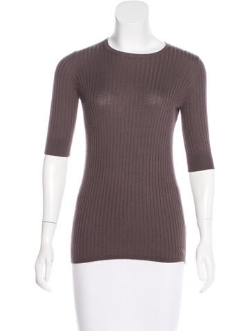 Vince Three-Quarter Sleeves Knit Top None