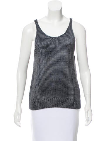Vince Sleeveless Silk Knit Top w/ Tags None