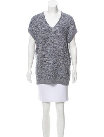 Vince Sleeveless Rib Knit Sweater None
