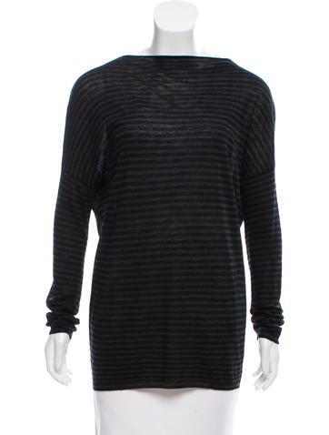 Vince Stripe Sweater Tunic None