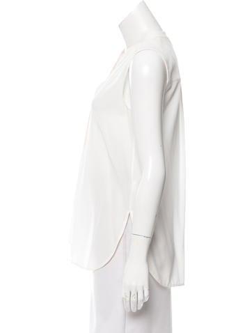 Sleeveless Silk Top
