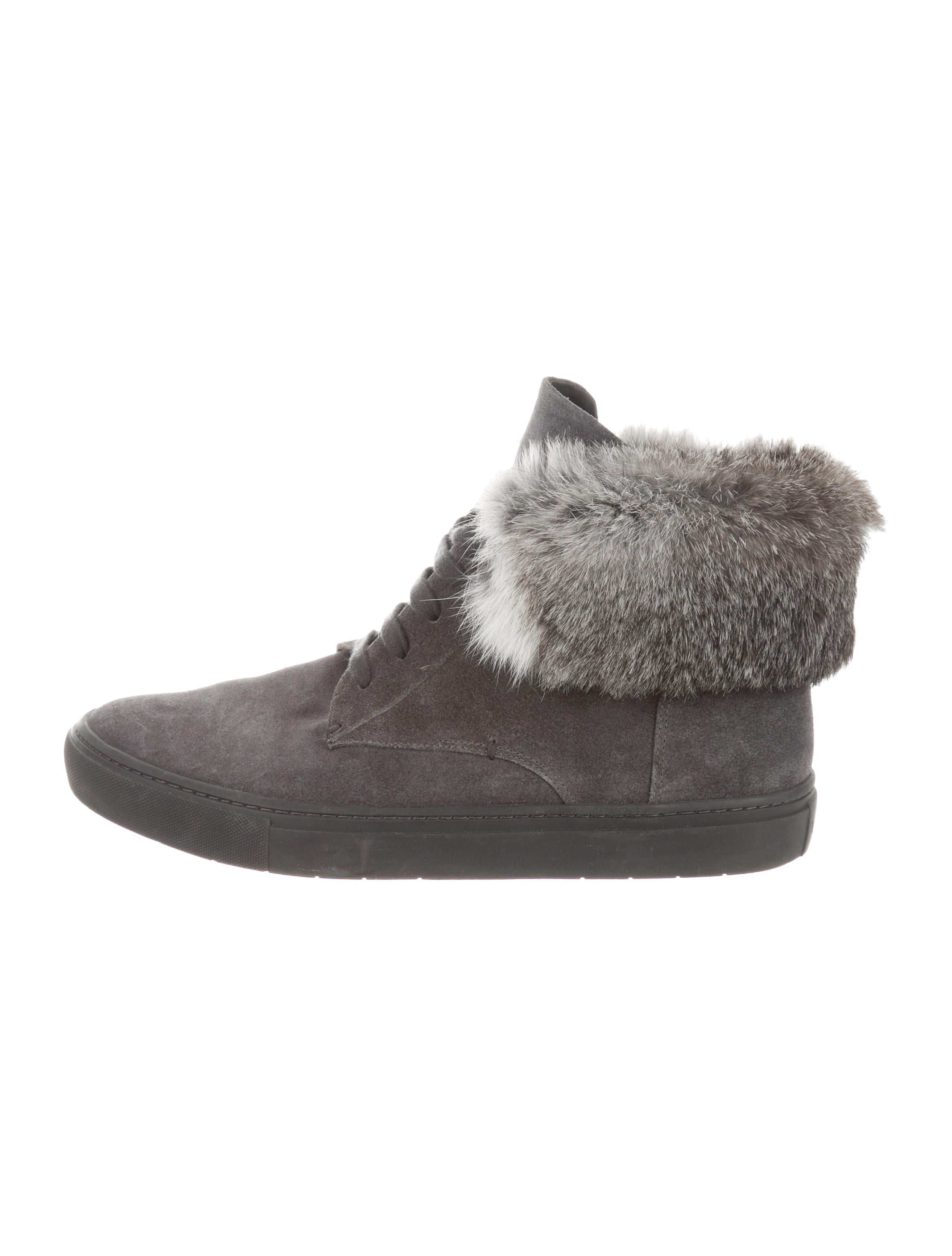 Vince Fur-Trimmed Chukka Sneakers big discount online for sale official site for sale footlocker outlet buy cheap sale clearance RqHrE