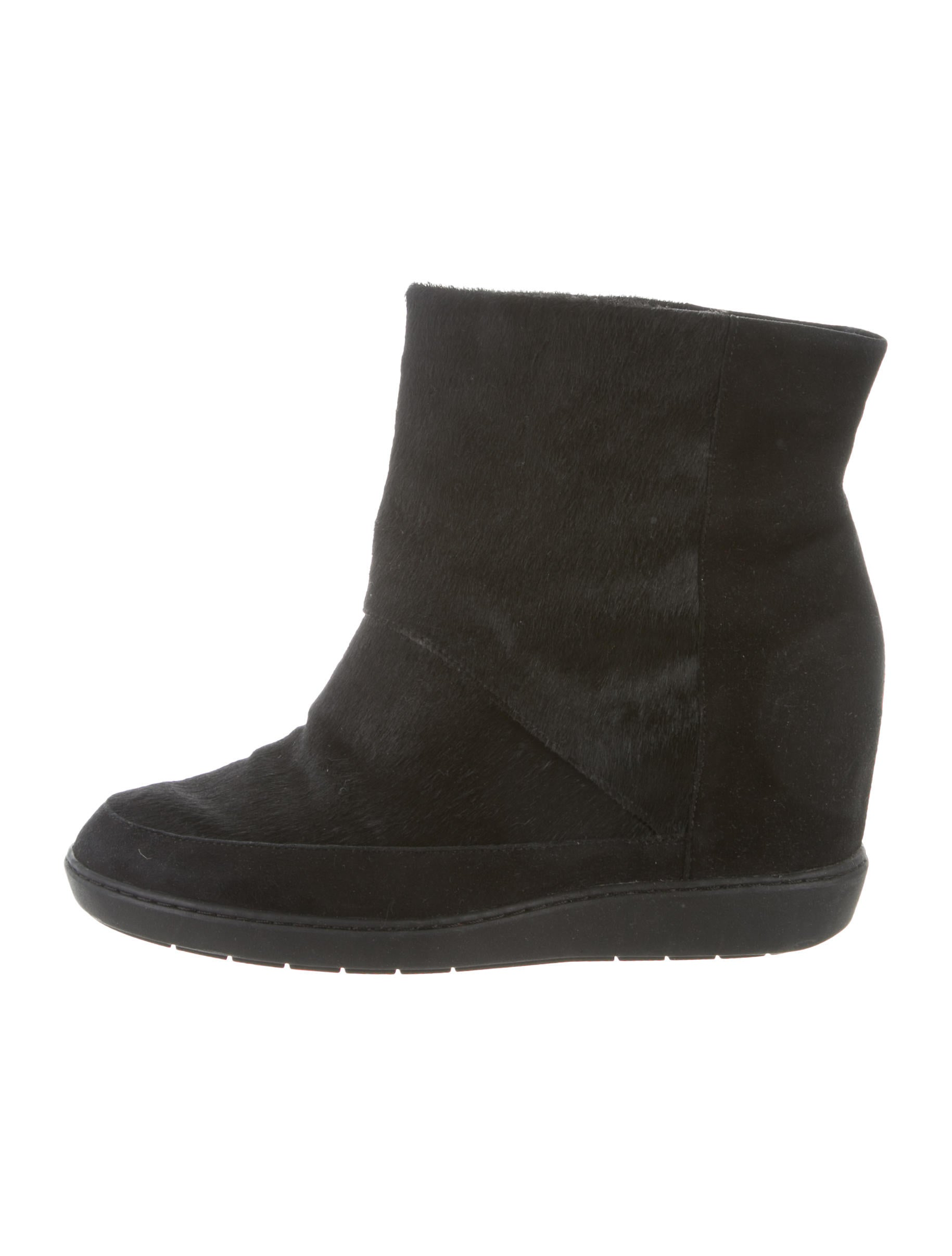 Vince Ponyhair Wedge Boots 100% guaranteed buy cheap shop offer clearance online amazon QYsNTmFY0