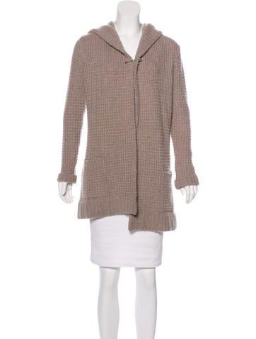 Vince Wool & Cashmere Hooded Cardigan None