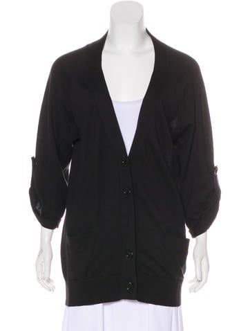 Vince Long Sleeve V-Neck Cardigan None