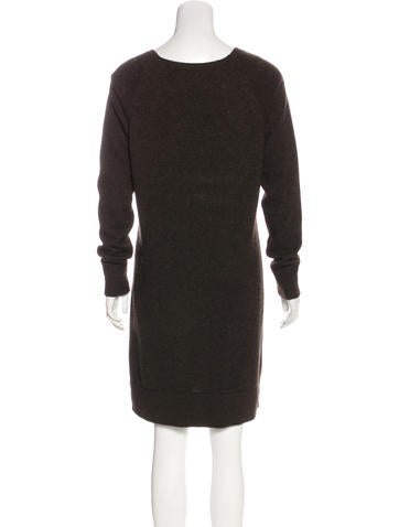 Cashmere Knit Sweater Dress