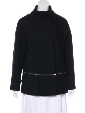 Vince Knit-Trimmed Wool Coat None