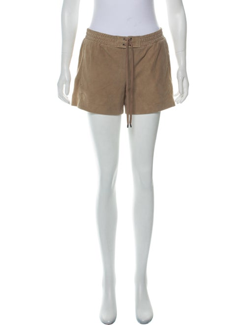 Vince Suede Mini Shorts Brown