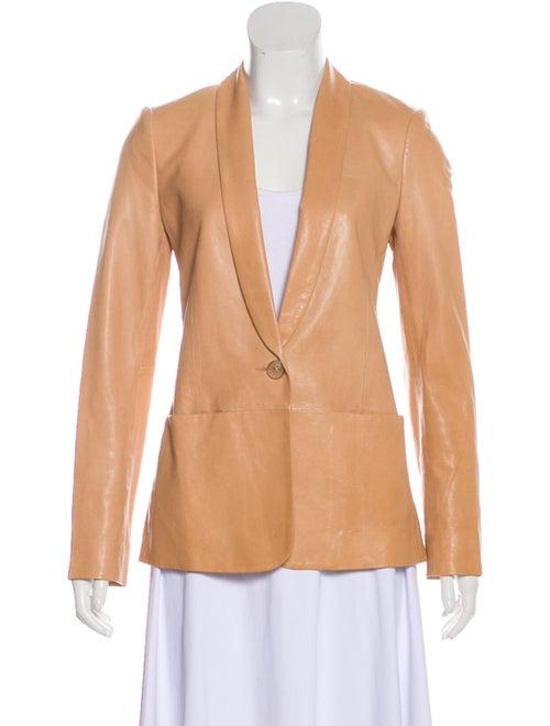Vince Calf Leather Blazer Orange
