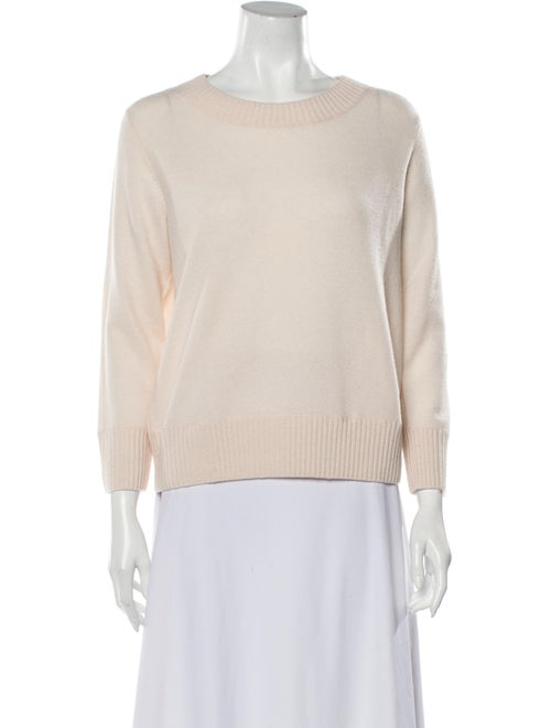 Vince Cashmere Scoop Neck Sweater Pink