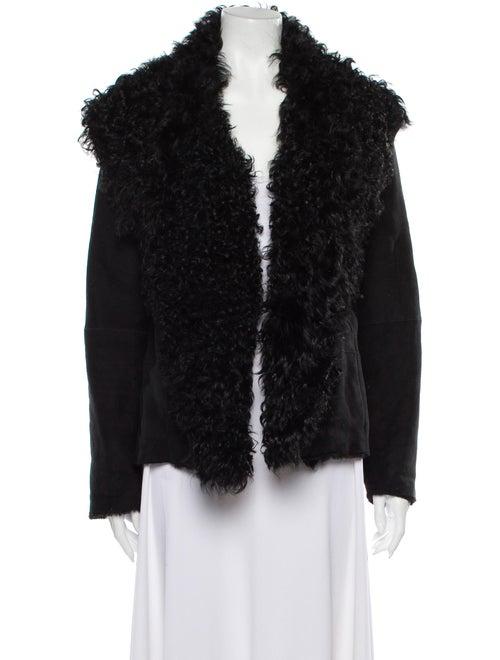Vince Shearling Fur Jacket Black