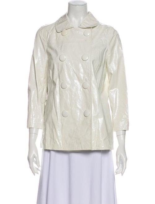 Vince Leather Evening Jacket White