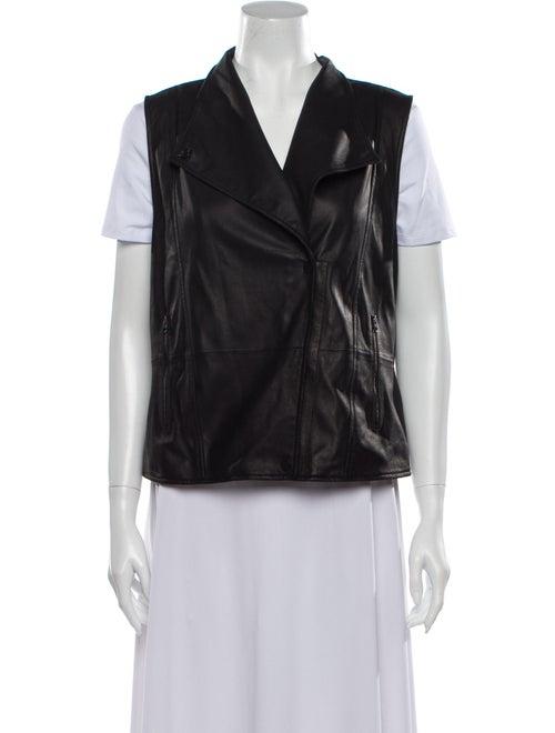 Vince Leather Vest Black