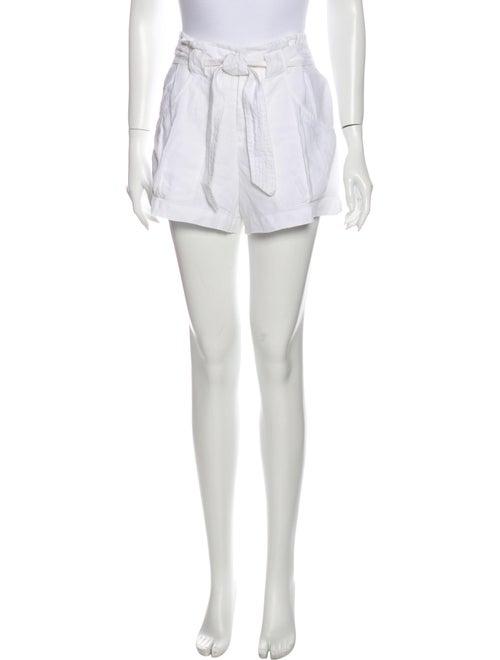 Vince Linen Mini Shorts White