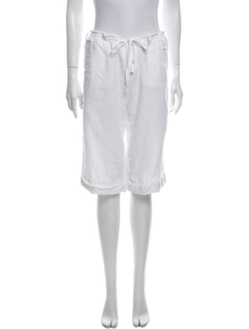 Vince Linen Knee-Length Shorts White