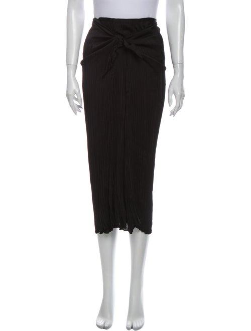 Vince Pleated Accents Midi Length Skirt Black
