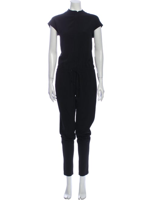 Vince Mock Neck Jumpsuit Black