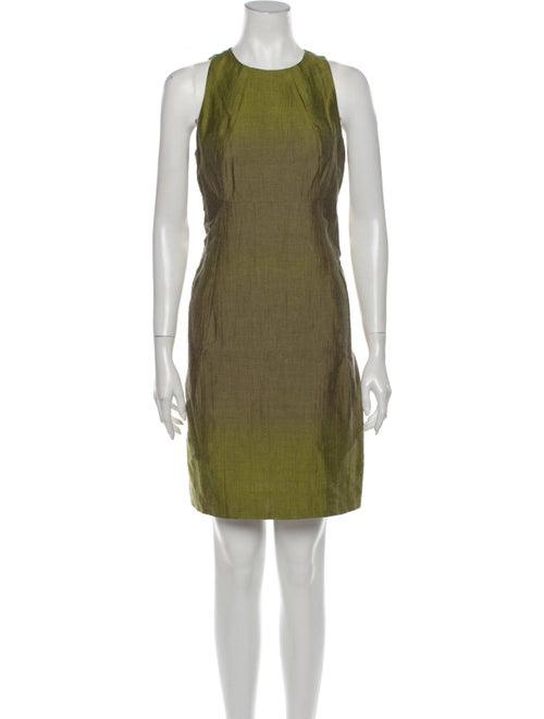 Vince Linen Mini Dress Green