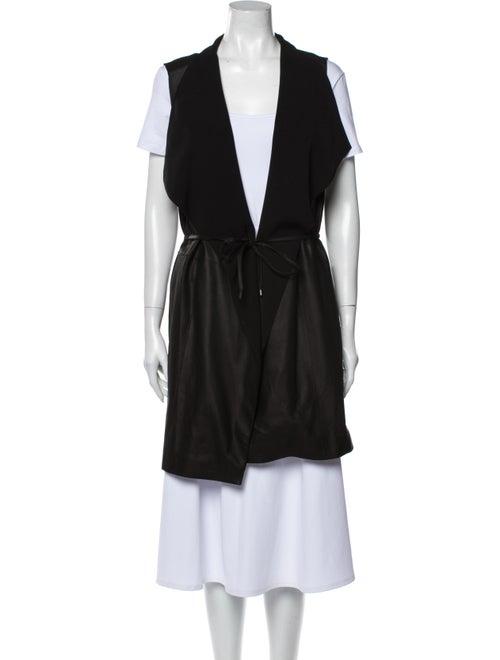 Vince Goat Leather Vest Black