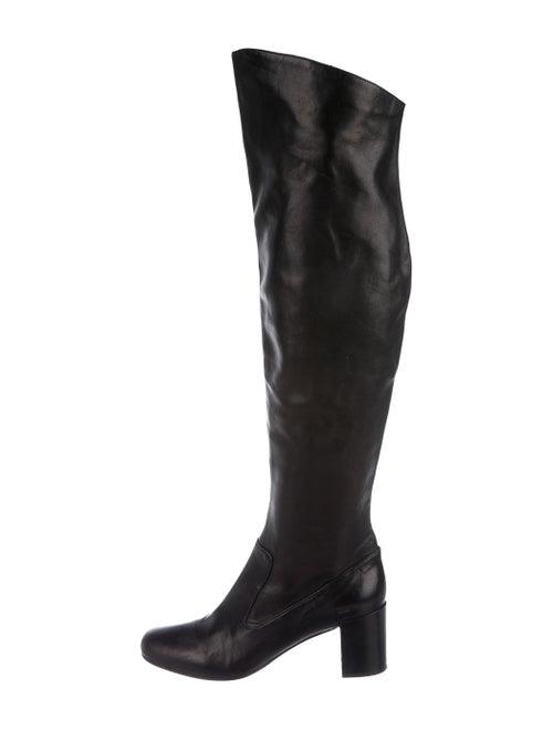 Vince Leather Boots Black