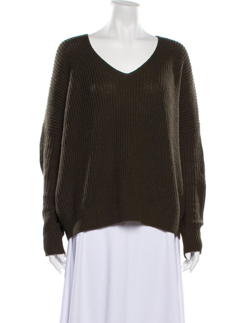 Vince V-Neck Sweater Green