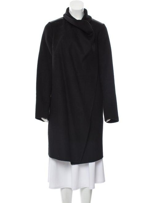 Vince Wool Belted Coat Black