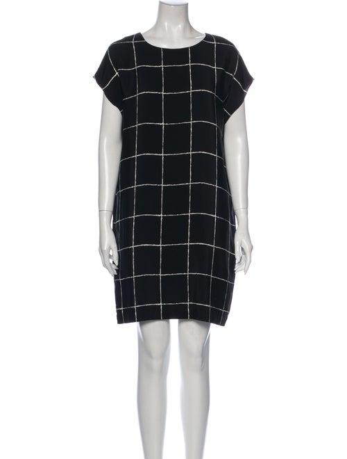 Vince Silk Mini Dress Black