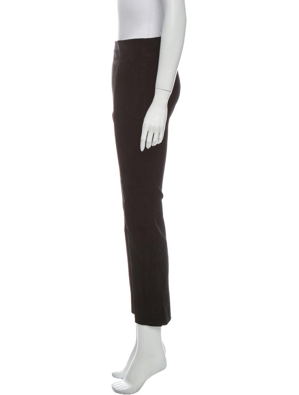 Vince Lamb Leather Straight Leg Pants Black - image 2
