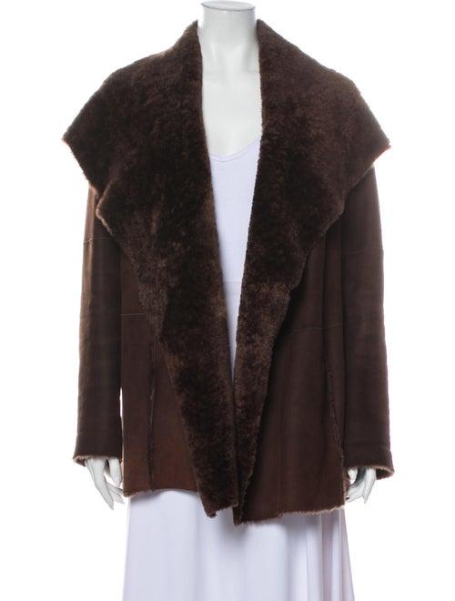 Vince Shearling Coat Brown