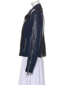 Vince Lamb Leather Biker Jacket