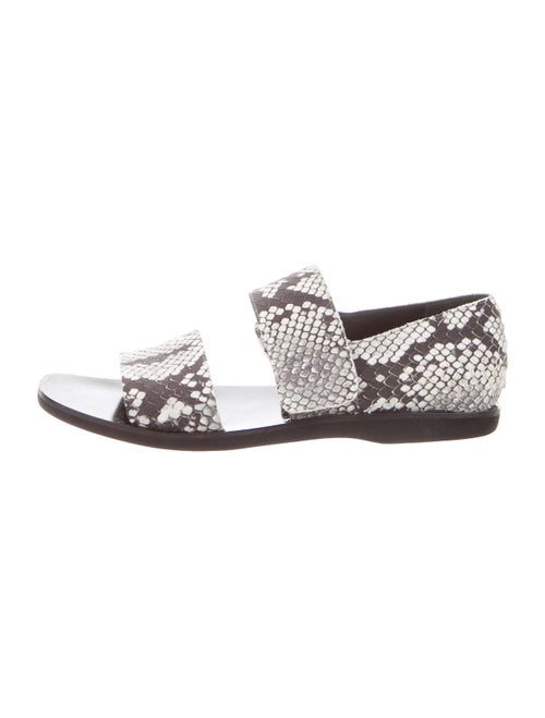 Vince Snakeskin Animal Print Sandals