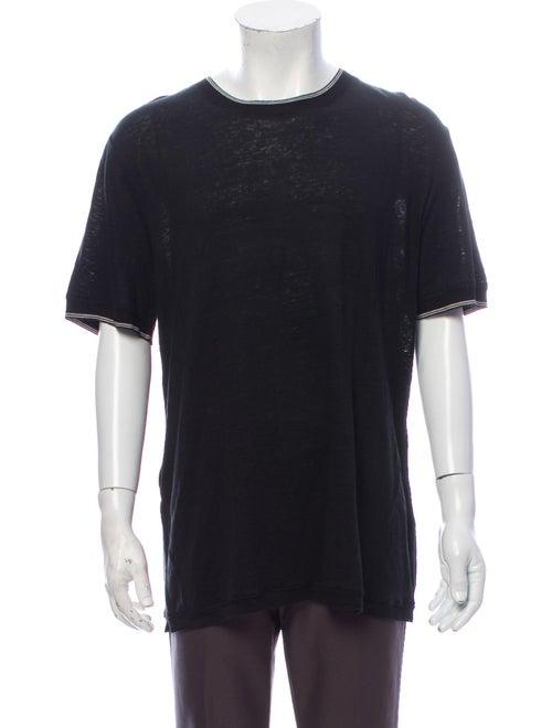Vince Linen Crew Neck T-Shirt w/ Tags Black