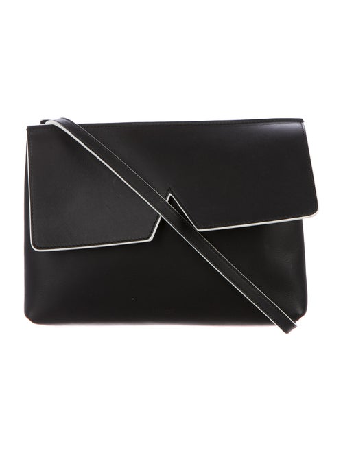 Vince Leather Crossbody Bag Black