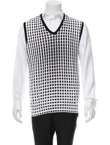 VNECK Printed V-Neck Vest w/ Tags None