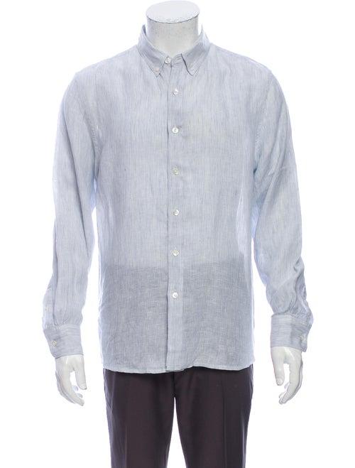 Venroy Linen Striped Shirt Blue
