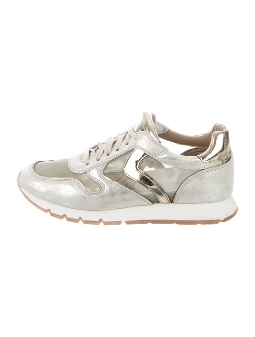 Voile Blanche Colorblock Pattern Sneakers Blanche