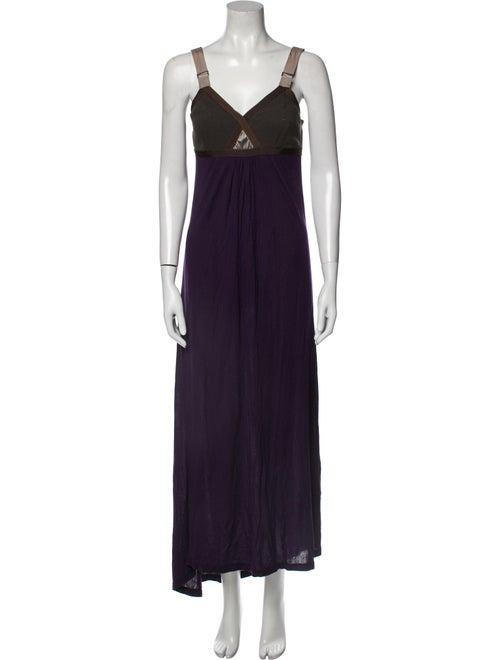VPL Scoop Neck Long Dress Purple