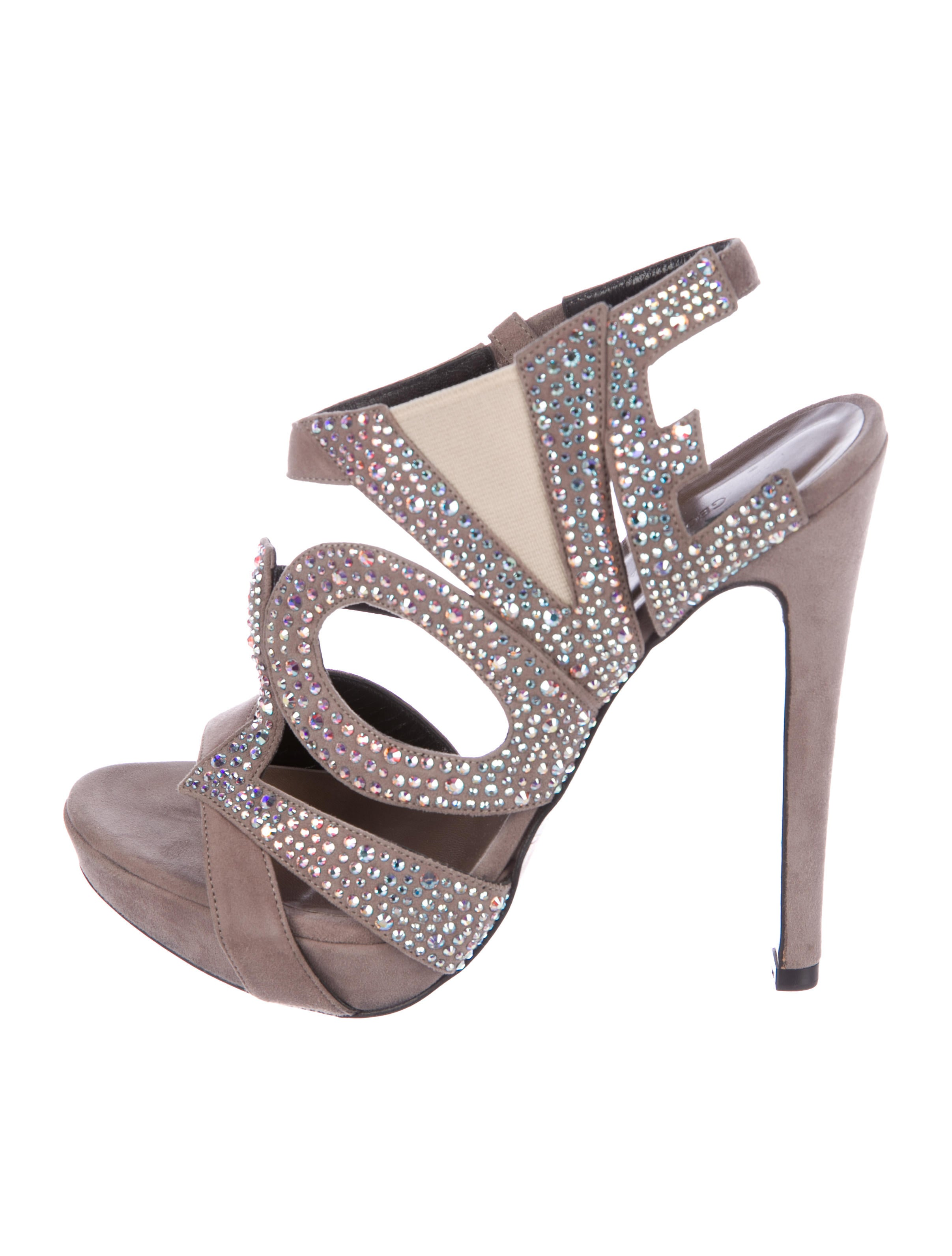 Georgina Goodman Embellished Suede Sandals buy cheap with paypal discount cheapest price outlet 2014 new buy cheap in China on37qqNg6