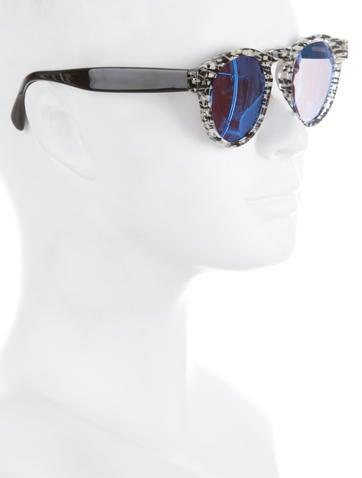 Mirrored Printed Sunglasses