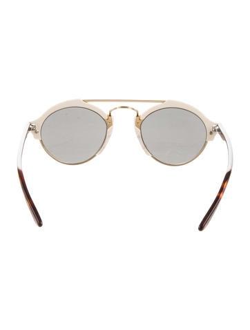 Gradient Lens Logo Sunglasses