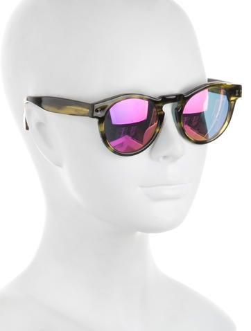 Mirrored Circular Sunglasses