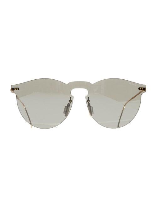 Illesteva Rimless Round Sunglasses gold