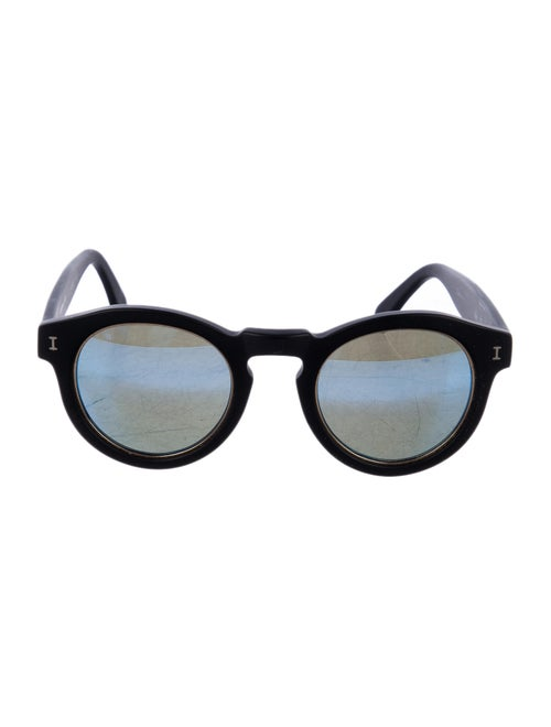 Illesteva Leonard Ring Round Sunglasses Black