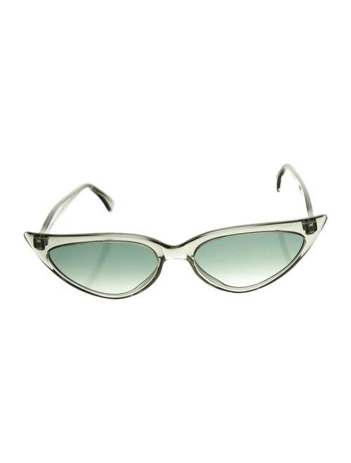 Illesteva Tinted Cat-Eye Sunglasses Green