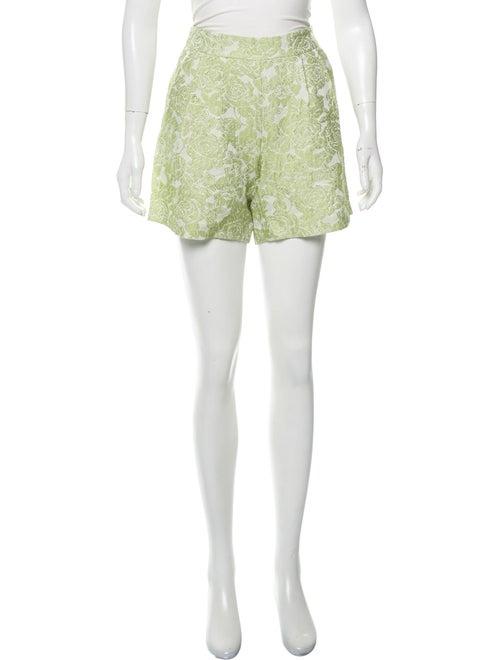 Vivetta Floral Print Mini Shorts White